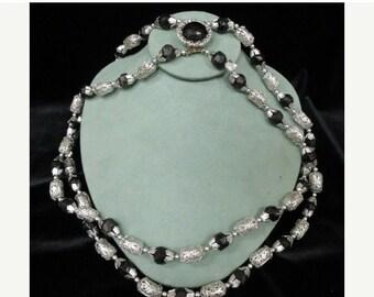 On Sale Vintage Hong Kong Aluminum Double Stranded Necklace Item K # 10