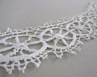 Antique lace collar, french tatting, victorian needlework, vintage wedding dress, shabby chic