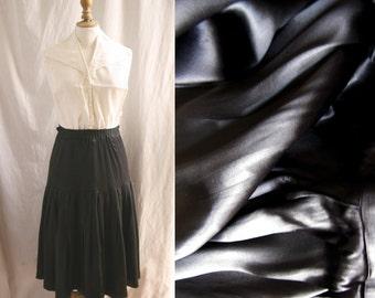 1910/1920's Vintage skirt, black satin silk