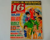 16 Magazine - December 1968 - The Monkees - Dino, Desi and Billy - Barnabas Collins - The Doors - The Cowsills - Vintage 60's Fan Magazine