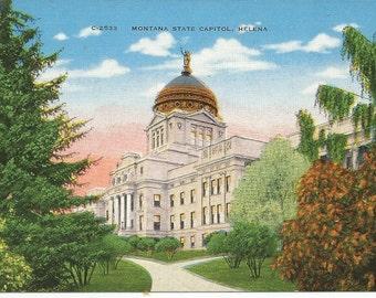 Vintage Montana State Capital Helena Postcard