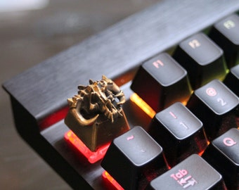 Custom SOLID BRASS keycaps for mechanical keyboards.