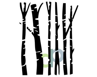 Birch trees-SVG file
