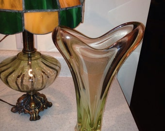 Spectacular Czechoslovakian Glass Vase
