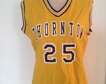 Vintage Thorton Academy (ME) Women's Basketball #25 80s Rawlings Jersey