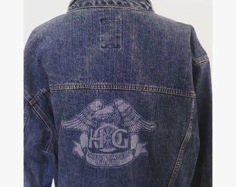 RARE Vintage Harley Davidson Owners Group Denim Jacket
