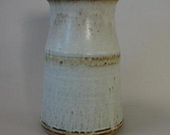 Vintage Mid Century Studio Pottery Jar / Vase Signed