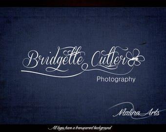 Photography Logo and Watermark. Flower logo. Text logo. Custom logo BUY 2 and GET 1 FREE!!!