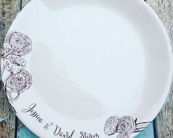moms famous recipe - custom plate perfect for bridal shower, wedding, or anniversary gift