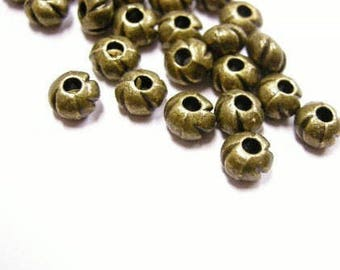 24pc 5mm antique bronze metal bead-4386