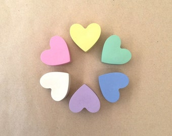 Pastel Heart Crayons