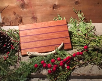 Awesome Cherry and Purple Heart cutting/cheese board