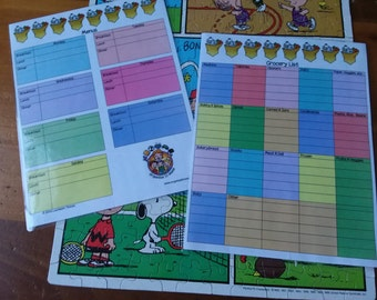 Grocery and Menu planning charts made by Organize it Mom