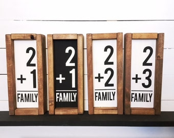 Family Numbers Wood Sign - MADE TO ORDER