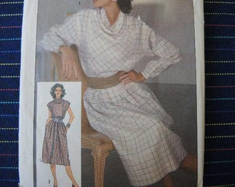 vintage 1980s simplicity sewing pattern 6734 Henry Grethel misses two piece dress size 8