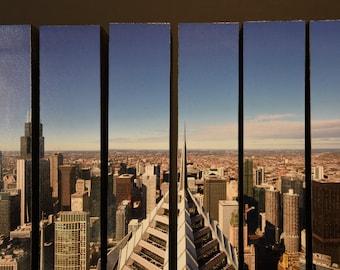 Prudential Building, Chicago, Illinois, McArthur Vertical Wood Blocks