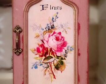 Vintage jewelry box, Shabby Chic jewelry box, Decoupaged Jewelry Box, Farmhouse Jewelry Box