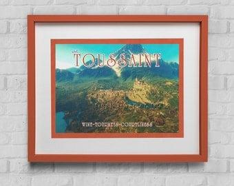 Toussaint Travel Poster    Vintage Impressionistic look print   Vintage travel   Witcher 3 travel poster