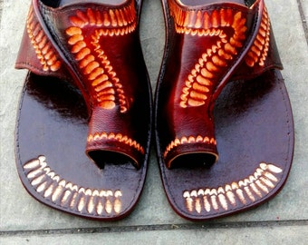 leather slippers/sandals handmade in Jamaica
