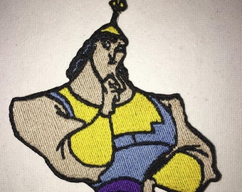 Iron On Patch Disney Inspired Fan Art Kronk from the Emperors New Groove