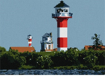 Needlepoint Kit or Canvas: Lighthouses
