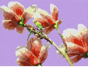 Needlepoint Kit or Canvas: Magnolia