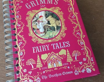 Grimm's Fairy Tales // Leatherbound  // Recycled Journal Notebook