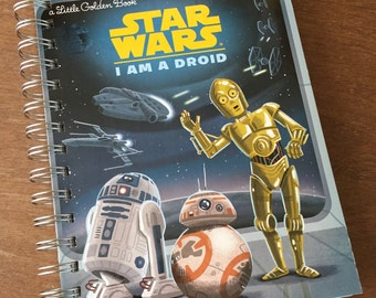 Star Wars I am a Droid Little Golden Book Recycled Journal Notebook