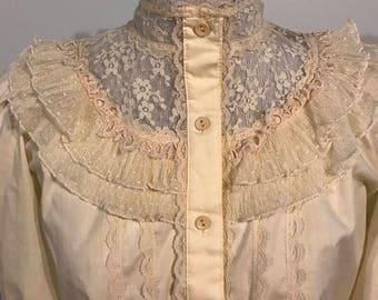 1970s victorian lace blouse
