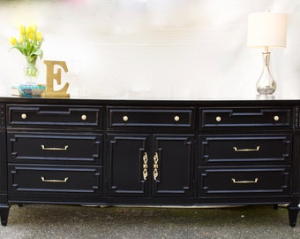 Thomasville Regency Dresser in Black Lacquer
