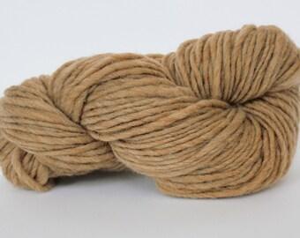 Chunky Yarn  100% Wool Yarn Hand Knitting Yarn Roving Yarn Bulky Yarn Sandstone Heather Color Yarn