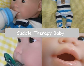 Cuddle Therapy doll, Open mouth reborn, Pillow body, lightly weighted