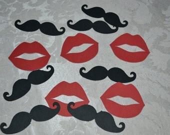 100 Lip & Mustache Confetti/Confetti/Table Scatter/Bachelorette Confetti/Bachelor Confetti