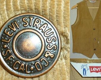 Vintage 1970s Levi's Vest / S / 36 / Corduroy / 1970s Corduroy Vest / Disco / Nerd / Vintage Vest / Vintage 1970s Menswear / Levi's Vest