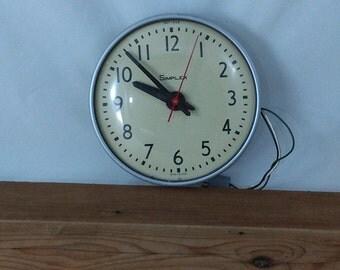 Mid Century Simplex Schoolhouse Clock