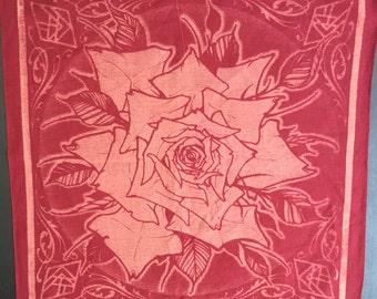 Burgundy Rose Bandana