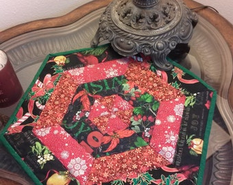 Christmas / candle mat/ decor