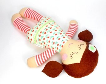 organic baby doll | soft baby toy |  Rosie doll |  first doll |  baby rag doll |  baby shower gift