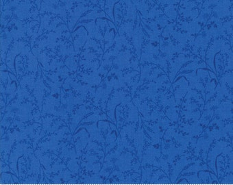 SUMMER BREEZE IV - #33285-15 - Leaves - Wheat - Royal - by Sentimental Studios for Moda - Blues - Yellows - Classic
