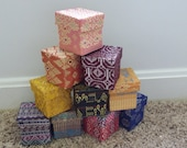 Fabric wrapped gift boxes/ favor boxes