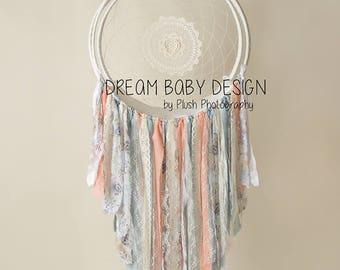 Linen and lace Dreamcatcher