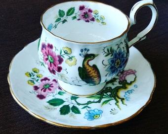 Royal Windsor teacup, Bird of Paradise