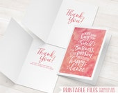 Small Business Cards, Printable Thank You Cards, Etsy Thank You Card, Happy Dance Package Inserts, Girl Boss, Marketing Promotional Cards