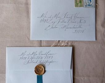 Black Ink Addressed Envelope
