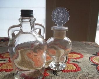Vintage Glass Bottles/ Small glass Bottles