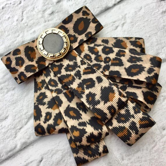 Miss Dawnie Leopard Print Brooch Rockabilly Pinup