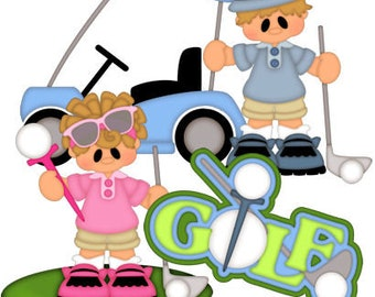 Golf die cuts, scrapbook die cuts, scrapbooking die cuts, Golf scrapbook embellishments, pre made scrapbook embellishments, card making