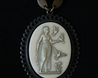 SALE 15% coupon code MARCH15 Goddess Vintage Assemblage Necklace by 58diamond