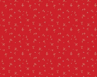 Country Sprouts in Red: Tasha Noel 1 Yard Cut