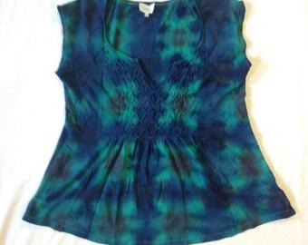 Funky Tie Dye Ladies Blouse size Large W229
